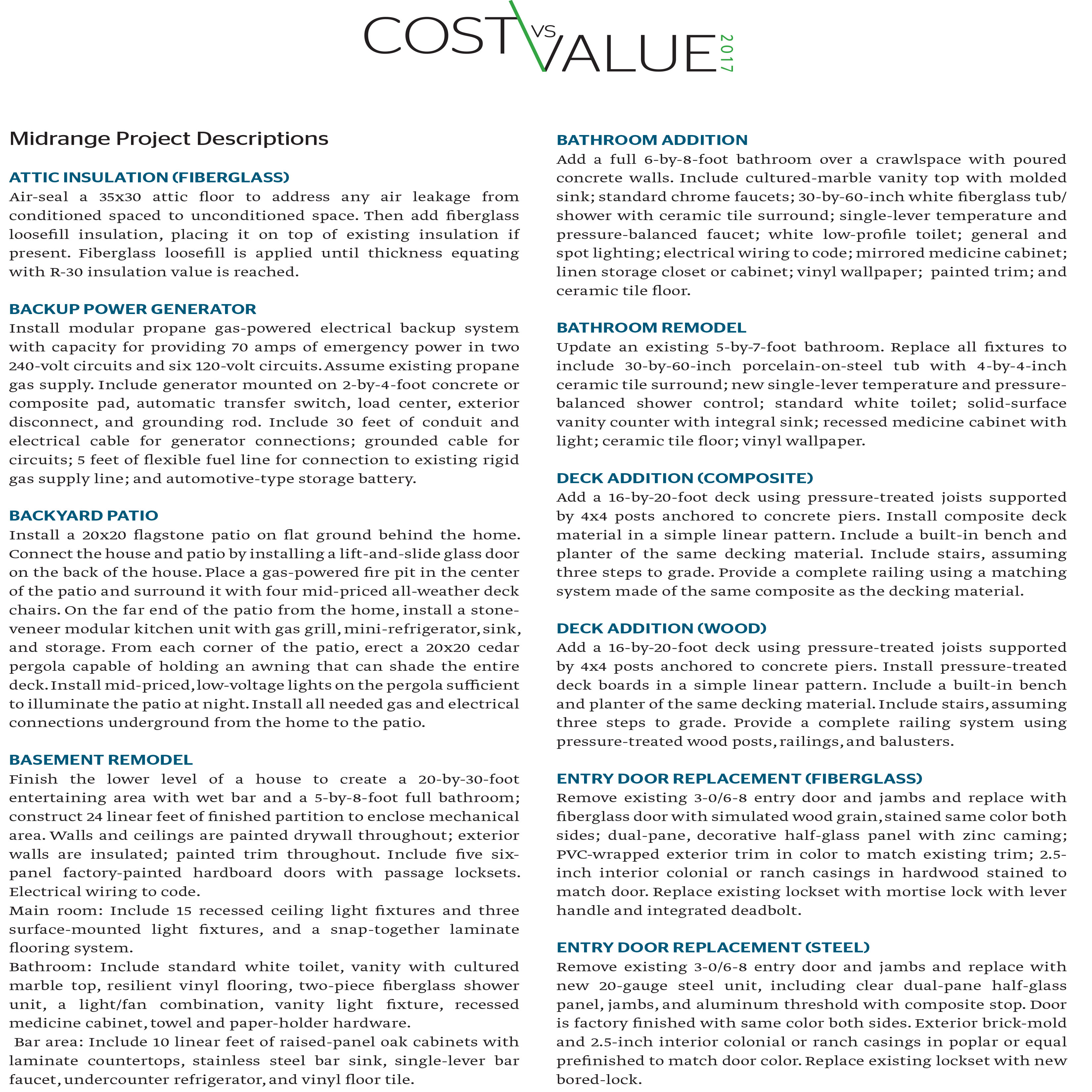 Cost Vs Value | America Home Crafters Remodeling